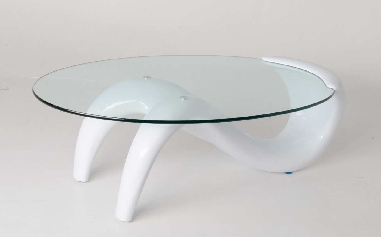 Modern White Base Coffee Table