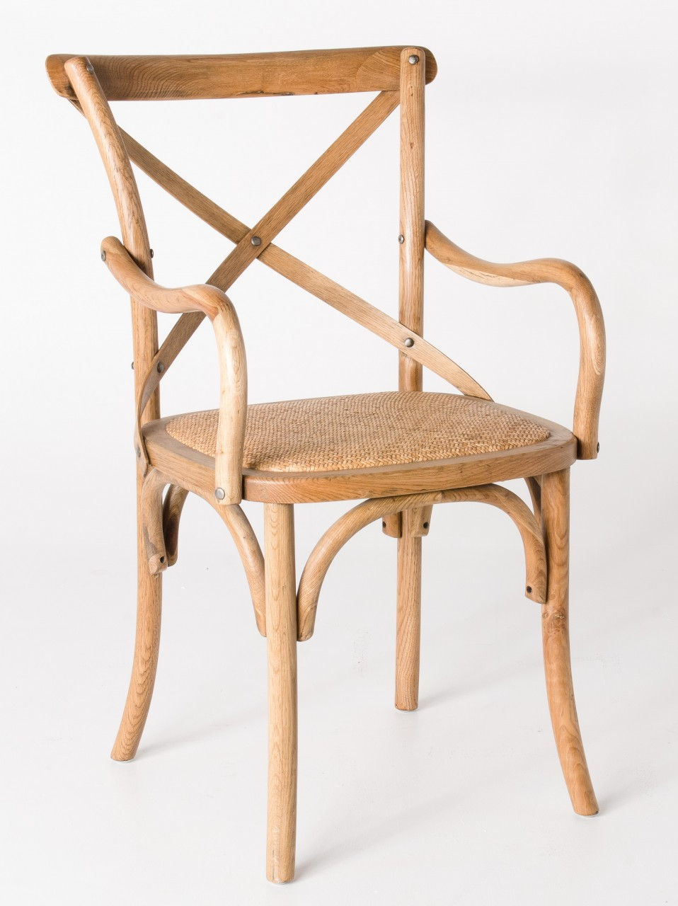 Cross Dining Armchairs - American Oak - Various Colours