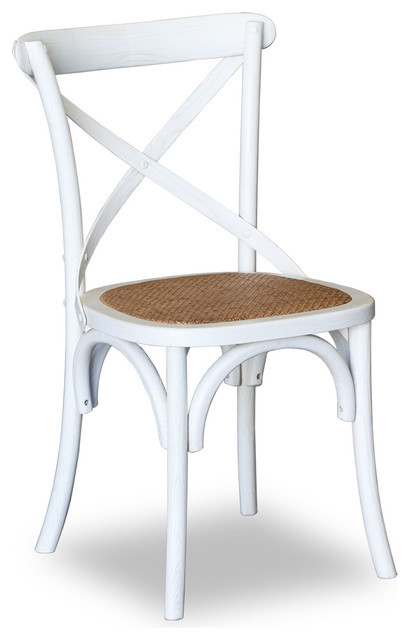 Cross Dining Chairs - American Oak - Various Colours - timber seat or rattan seat