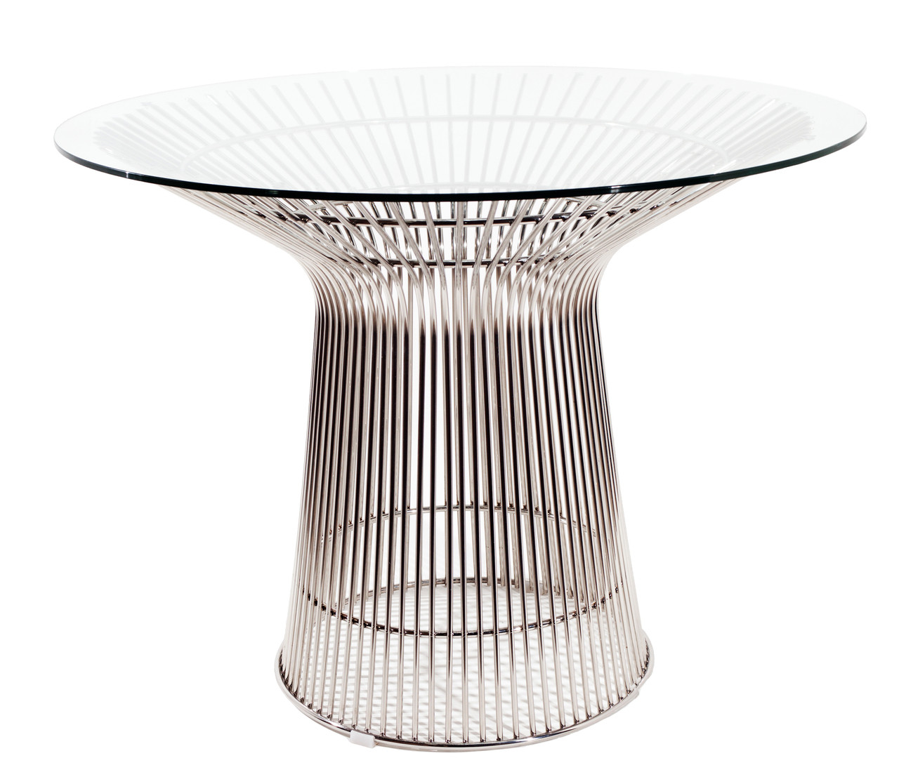 Replica Warren Platner - Wire Dining Table - Stainless Steel - Glass Top - 100cm, 120cm, 140cm