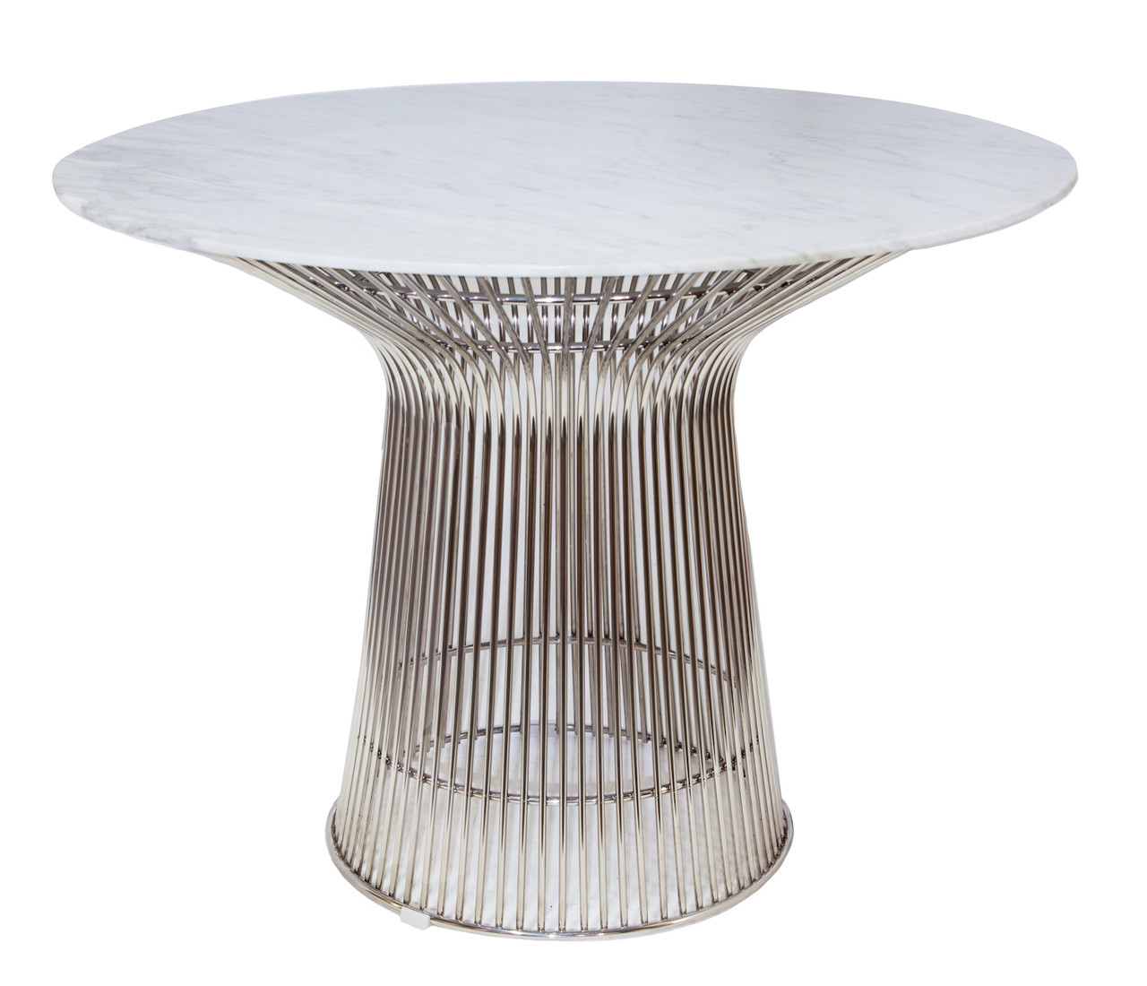 Replica Warren Platner - Wire Dining Table - Stainless Steel - Marble Top - 100cm