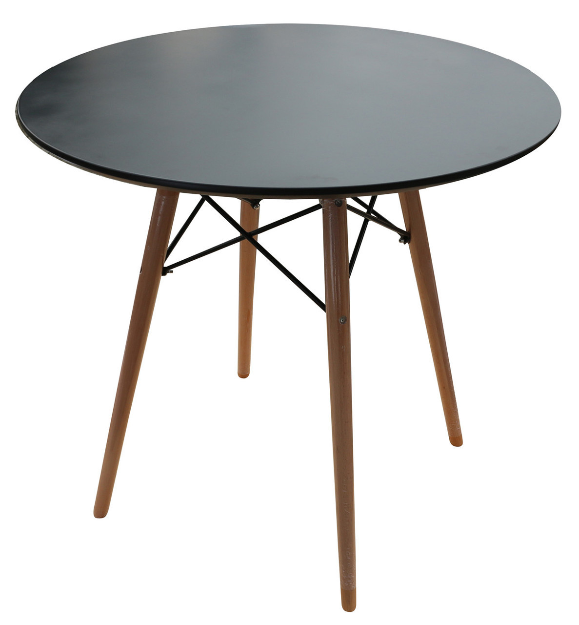 Replica Charles & Ray Eames DSW Dining Table-black-80cm