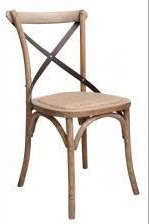 Cross Dining Chairs - American Oak With Metal Backs- Various Colours
