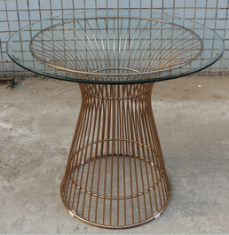 Replica Warren Platner - Wire Dining Table - Rose Gold  - 80cm, 90cm