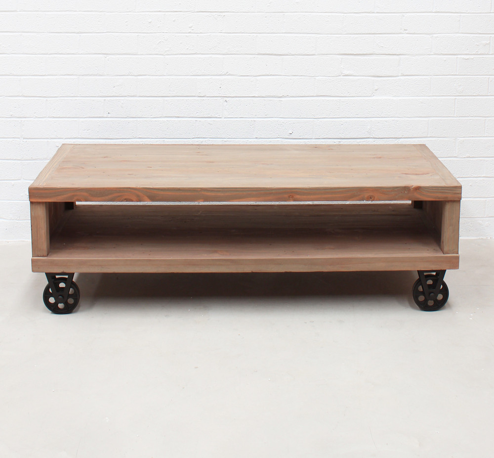 Industrial Cart Coffee Table (hf)