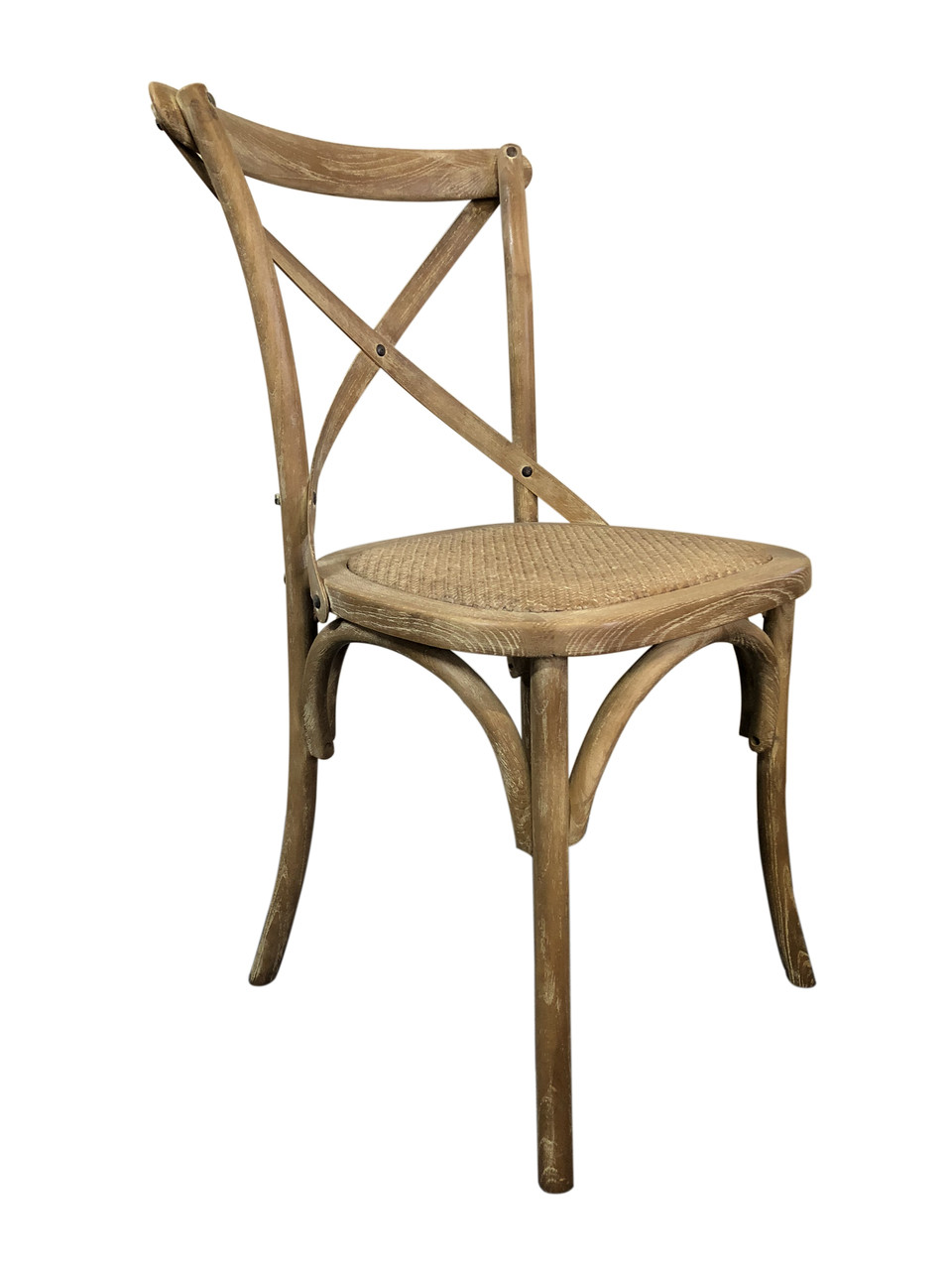 Cross Dining Chairs - American Oak - White-Washed Finish